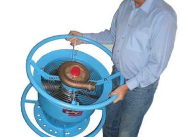 Portable gas freeing fans